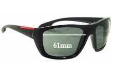 Sunglass Fix Sunglass Replacement Lenses for Prada SPS01O - 61mm Wide