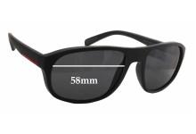 Sunglass Fix Sunglass Replacement Lenses for Prada SPS01R - 58mm Wide x 44mm Tall