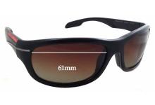 Sunglass Fix Sunglass Replacement Lenses for Prada SPS02N - 61mm Wide