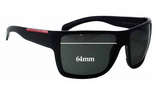 Sunglass Fix Sunglass Replacement Lenses for Prada SPS03L - 64mm Wide