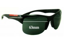 Sunglass Fix Sunglass Replacement Lenses for Prada SPS03N - 63mm Wide