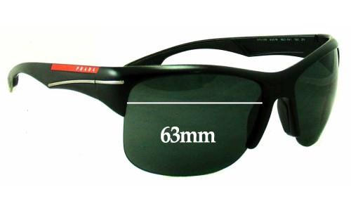 Sunglass Fix Sunglass Replacement Lenses for Prada SPS03N - 63mm Wide