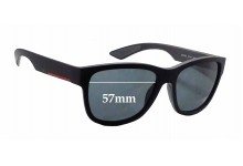 Sunglass Fix Sunglass Replacement Lenses for Prada SPS03Q - 57mm Wide