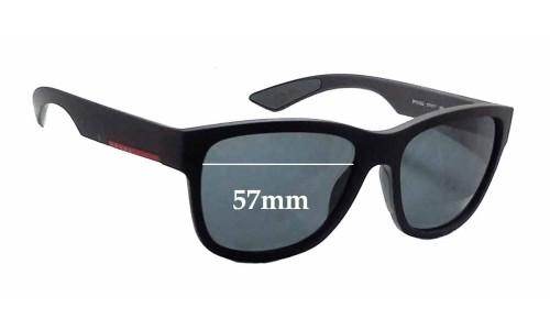 Sunglass Fix Sunglass Replacement Lenses for Prada SPS03Q - 57mm wide