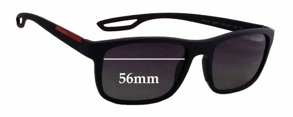 Sunglass Fix Sunglass Replacement Lenses for Prada SPS03R - 56mm Wide