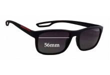 Sunglass Fix Sunglass Replacement Lenses for Prada SPS03R - 56mm Wide