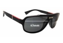 Sunglass Fix Sunglass Replacement Lenses for Prada SPS04M - 63mm Wide