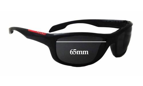 Sunglass Fix Sunglass Replacement Lenses for Prada SPS04N - 65mm wide