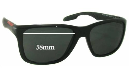 Sunglass Fix Sunglass Replacement Lenses for Prada SPS04O - 58mm wide