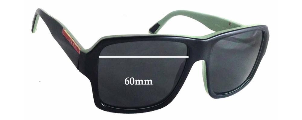 Sunglass Fix Sunglass Replacement Lenses for Prada SPS05L - 60mm Wide x 45mm Tall
