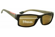 Sunglass Fix Sunglass Replacement Lenses for Prada SPS05O - 59mm Wide