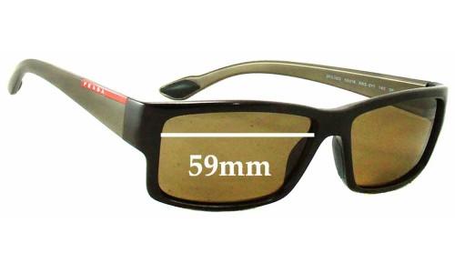 Sunglass Fix Sunglass Replacement Lenses for Prada SPS05O - 59mm Wide
