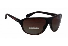 Sunglass Fix Sunglass Replacement Lenses for Prada SPS06N - 64mm Wide