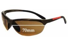 Sunglass Fix Sunglass Replacement Lenses for Prada SPS09A - 70mm Wide