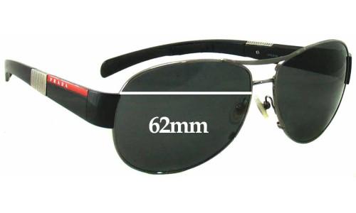 Sunglass Fix Sunglass Replacement Lenses for Prada SPS51H 62MM Wide