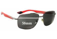 Sunglass Fix Sunglass Replacement Lenses for Prada SPS51M - 58mm Wide