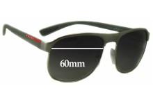 Sunglass Fix Sunglass Replacement Lenses for Prada SPS51Q - 60mm Wide