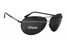 Sunglass Fix Sunglass Replacement Lenses for Prada SPS52L - 65mm Wide