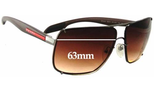 Sunglass Fix Sunglass Replacement Lenses for Prada SPS53O - 63mm Wide