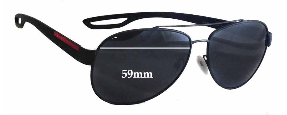 Sunglass Fix Sunglass Replacement Lenses for Prada SPS55Q - 59mm Wide