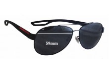 Sunglass Fix Sunglass Replacement Lenses for Prada SPS55Q - 59mm Wide