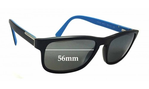 Sunglass Fix Sunglass Replacement Lenses for Prada VPR07P - 56mm wide