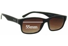 Sunglass Fix Sunglass Replacement Lenses for Prada VPR16M - 55mm Wide