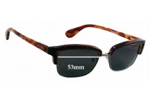 Sunglass Fix Sunglass Replacement Lenses for Prada VPR21P -53mm Wide
