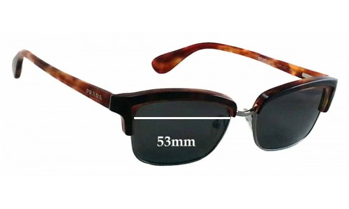 Sunglass Fix Sunglass Replacement Lenses for Prada VPR21P -53mm Wide