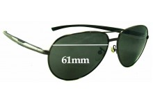 Sunglass Fix Sunglass Replacement Lenses for Police S8086 - 61mm Wide