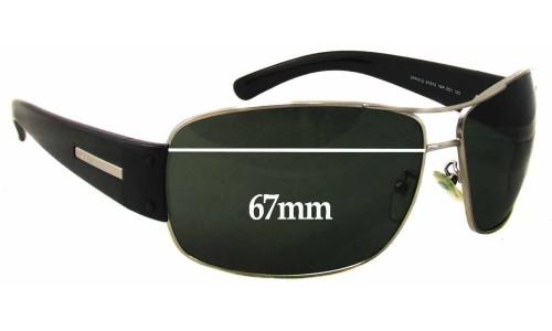 Sunglass Fix Sunglass Replacement Lenses for Prada SPR61G - 67mm Wide