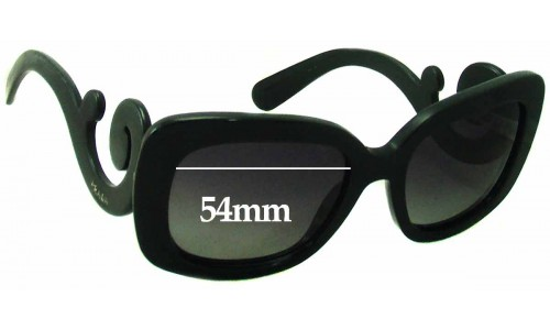 Sunglass Fix Sunglass Replacement Lenses for Prada SPR 27O - 54mm wide