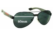 Sunglass Fix Sunglass Replacement Lenses for Prada SPS55M - 60mm Wide