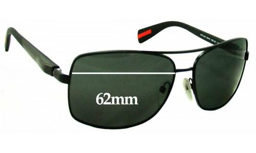 Sunglass Fix Sunglass Replacement Lenses for Prada SPS50o - 62mm wide