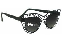 Sunglass Fix Sunglass Replacement Lenses for Quay Australia Steel Cat - 49mm Wide