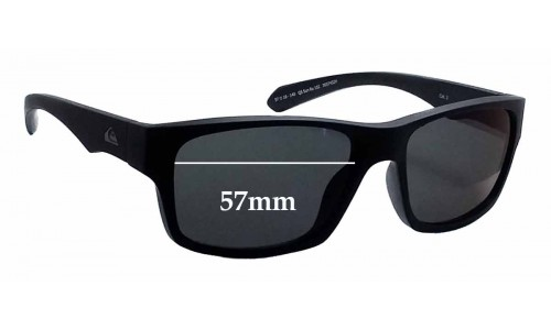 Sunglass Fix Sunglass Replacement Lenses for Quiksilver QS Tech Sun Rx 102 - 57mm Wide