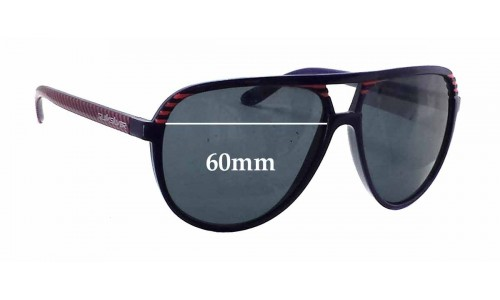 Sunglass Fix Sunglass Replacement Lenses for Quiksilver The Shaka QS1134 - 60mm Wide