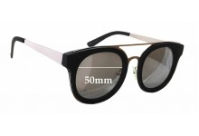 Sunglass Fix Sunglass Replacement Lenses for Quay Australia Brooklyn - 50mm Wide