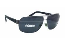 Sunglass Fix Sunglass Replacement Lenses for Ralph Lauren PH 3066 - 66mm Wide