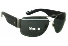 Sunglass Fix Sunglass Replacement Lenses for Ralph Lauren Polo PH 3072 - 66mm Wide