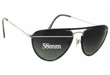 Sunglass Fix Sunglass Replacement Lenses for Ralph Lauren RL 7037-Q-W - 58mm Wide