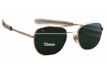 Sunglass Fix Sunglass Replacement Lenses for Randolph Engineering Aviator RE FGN - 52mm Wide