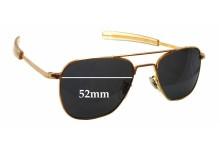 Sunglass Fix Sunglass Replacement Lenses for Randolph Engineering Aviator RE 5 1/2 - 52mm Wide