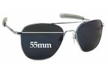 Sunglass Fix Sunglass Replacement Lenses for Randolph Engineering Aviator REUSA - 55mm Wide x 45mm Tall