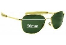 Sunglass Fix Sunglass Replacement Lenses for Randolph Engineering Aviator REUSA - 58mm Wide