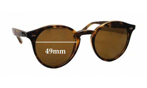 Sunglass Fix Sunglass Replacement Lenses for Ray Ban RB2180 - 49mm wide