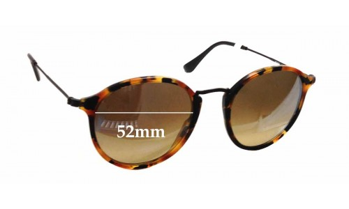 Sunglass Fix Sunglass Replacement Lenses for Ray Ban RB2447 - 52mm wide