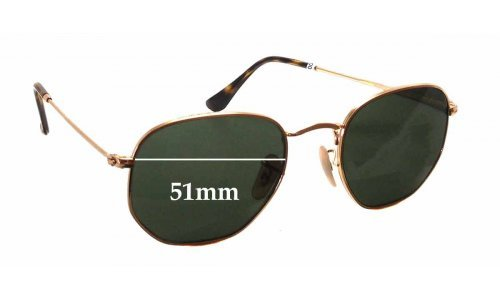 Sunglass Fix Sunglass Replacement Lenses for Ray Ban RB3548-N - 51mm wide