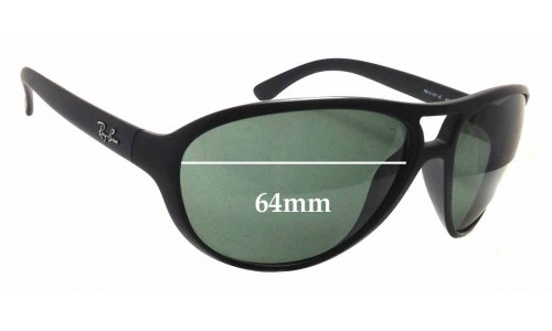Sunglass Fix Sunglass Replacement Lenses for Ray Ban RB 4157-E - 64mm wide