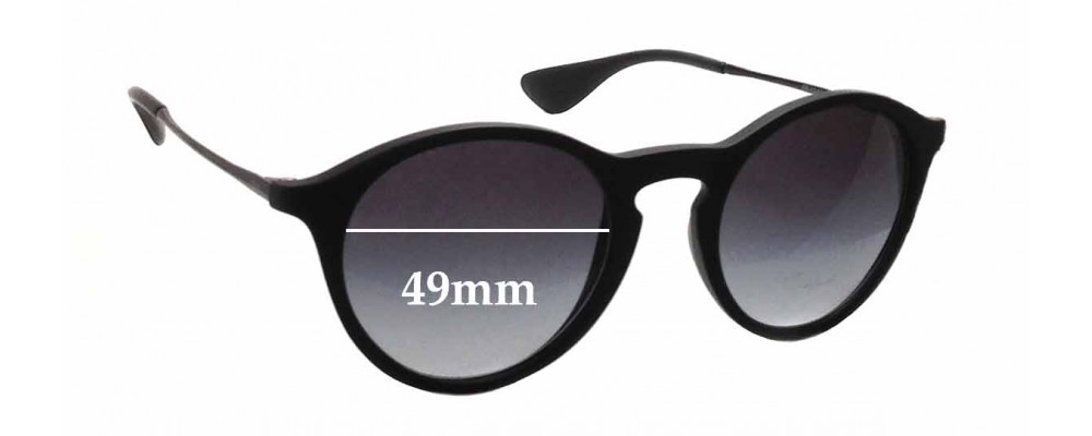 Sunglass Fix Sunglass Replacement Lenses for Ray Ban RB4243 - 49mm Wide